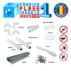 Kit Plasa L 600mm, H 1800mm plasa impotriva insectelor cu balamale
